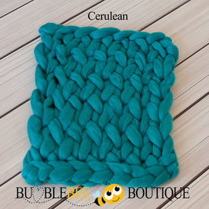 Bumblebee Boutique Bump Blanket Cerulean