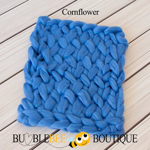 Bumblebee Boutique Bump Blanket Cornflower