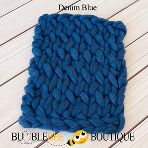 Bumblebee Boutique Bump Blanket Denim Blue