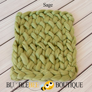 Bumblebee Boutique Bump Blanket Sage