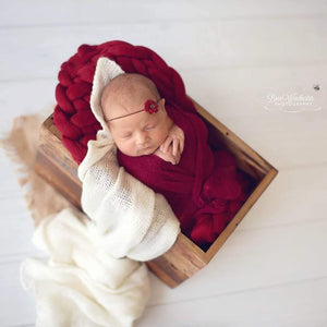 Bumblebee Boutique Bump Blanket Wine Red (Image by Bree Winchester Photography)
