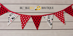 Bunting for Mickey or Minnie Mouse themed cake smash