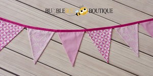 Pink Teddy Bear's Picnic themed bunting