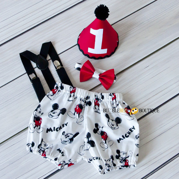 Mickey Mouse Boys Cake Smash Outfit