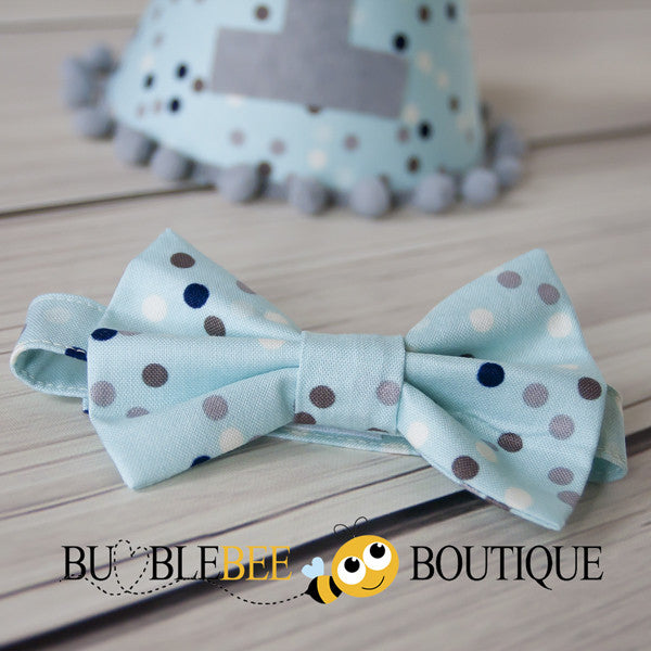 Confetti Blue Boys' Cake Smash Outfit Bow Tie