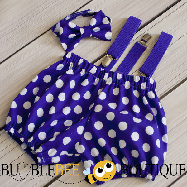 Gone Dotty - Purple cake smash outfit