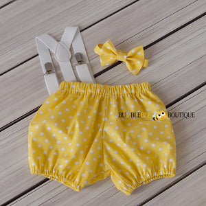 Gone Dotty Yellow Cake Smash Outfit