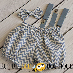 Grey Chevron cake smash set