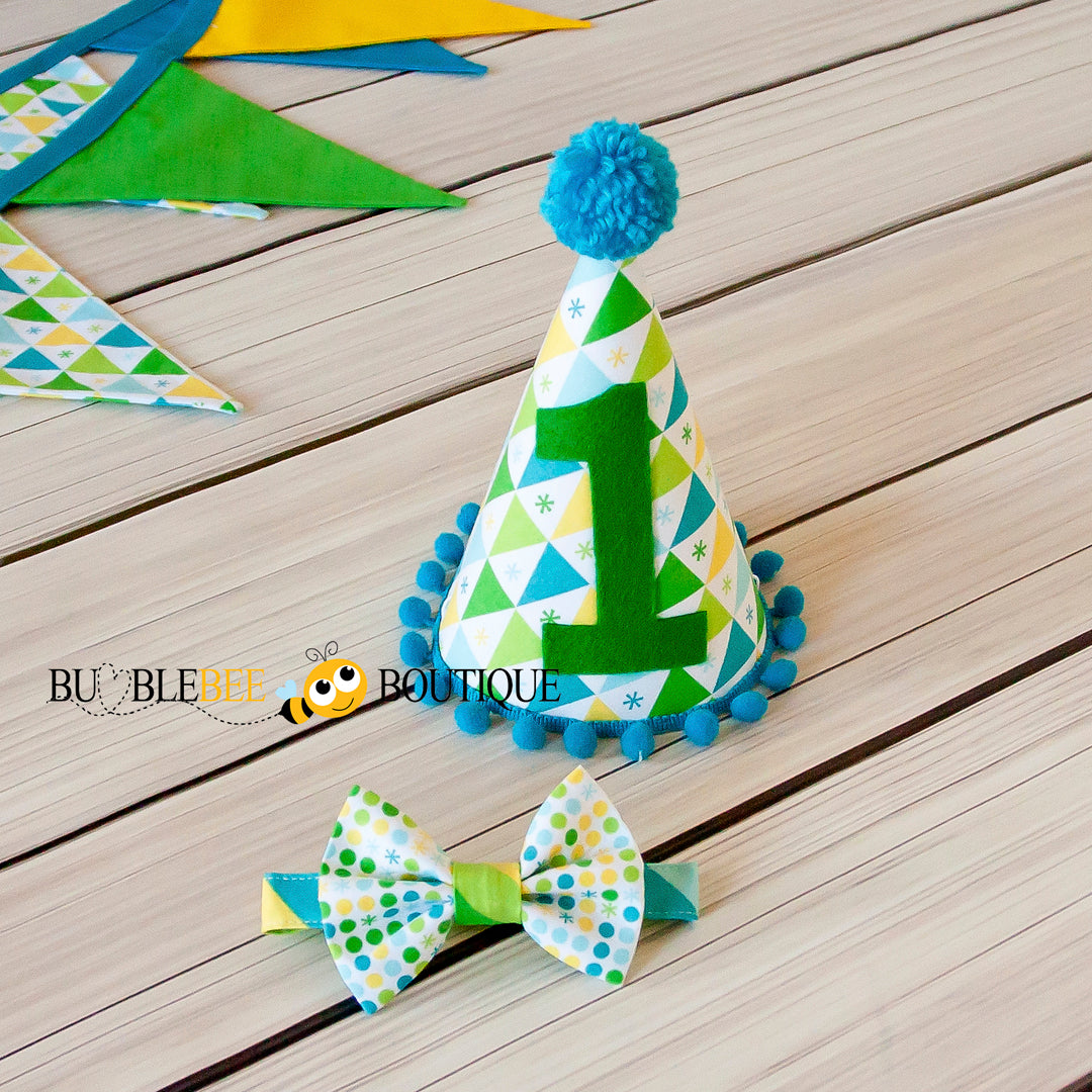 Circus - Blue Party hat & Bow tie