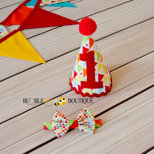 Circus - Red Party hat & bow tie