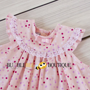 Confetti Pink Sitter Dress front yoke close-up
