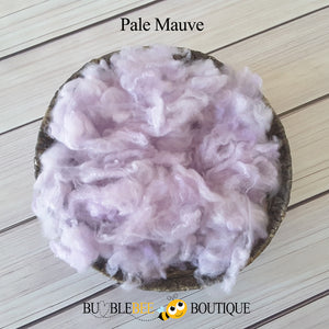 Pale mauve hand-dyed fleece