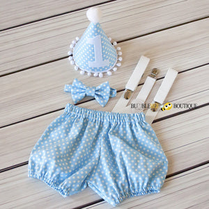 Gone Dotty - Baby Blue Cake Smash Set