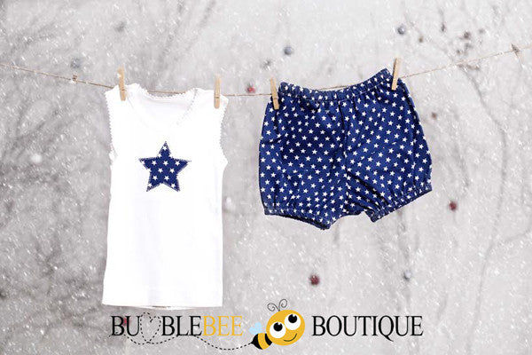 Star singlet & pants sets - navy