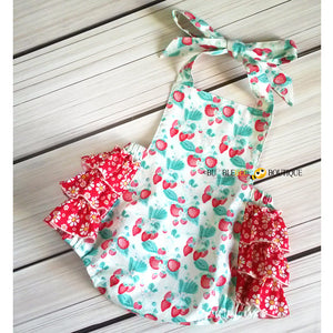 Strawberries & Cream Girls Cake Smash Outfit