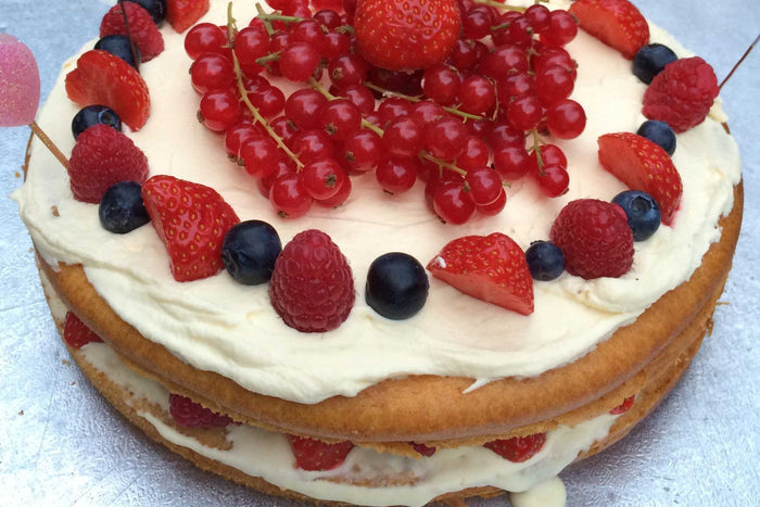 Vanilla Berry Cream & Honey Celebration Cake