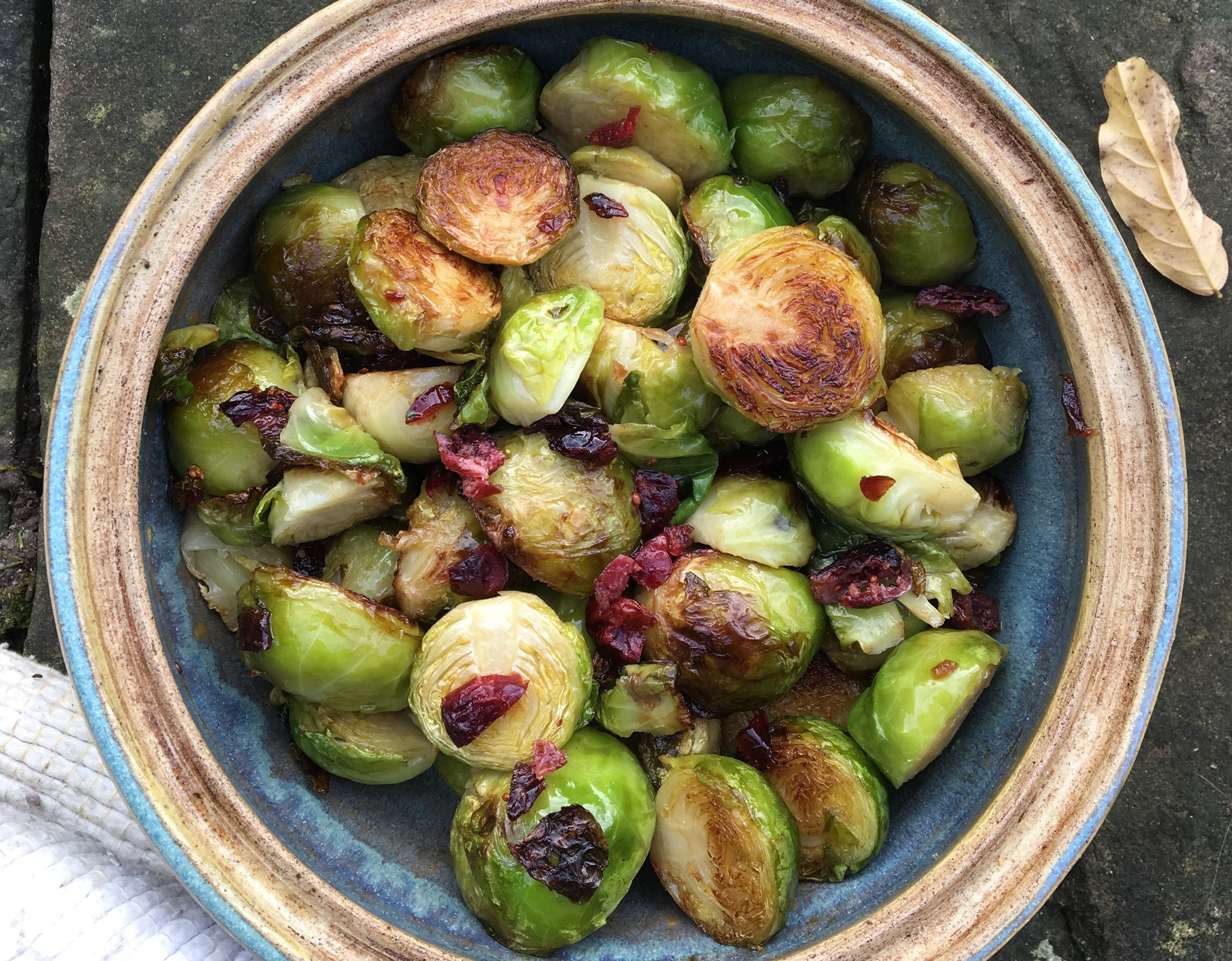 Caramelised Cranberry Brussel Sprouts