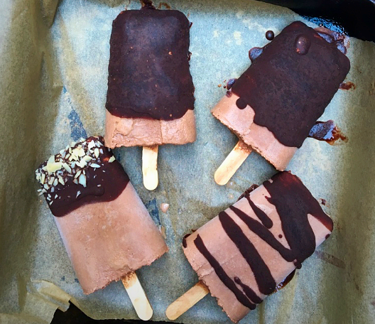 Double Chocolate Fudge Lollies