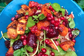 Warm Vegetable and Pomegranate Bowl