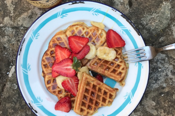 Honey Heart Waffles