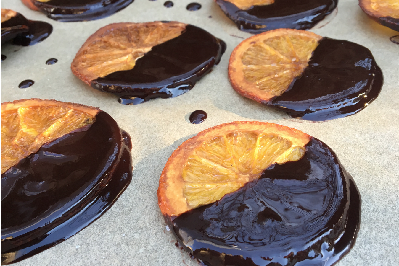 Chocolate Dipped Orange Crisps