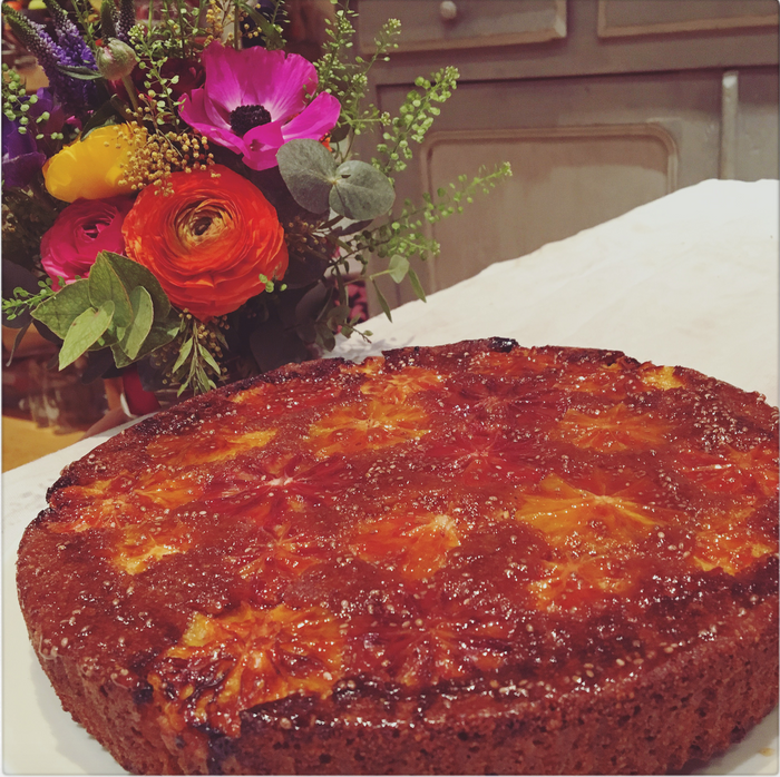 Blood Orange & Almond Sticky Cake