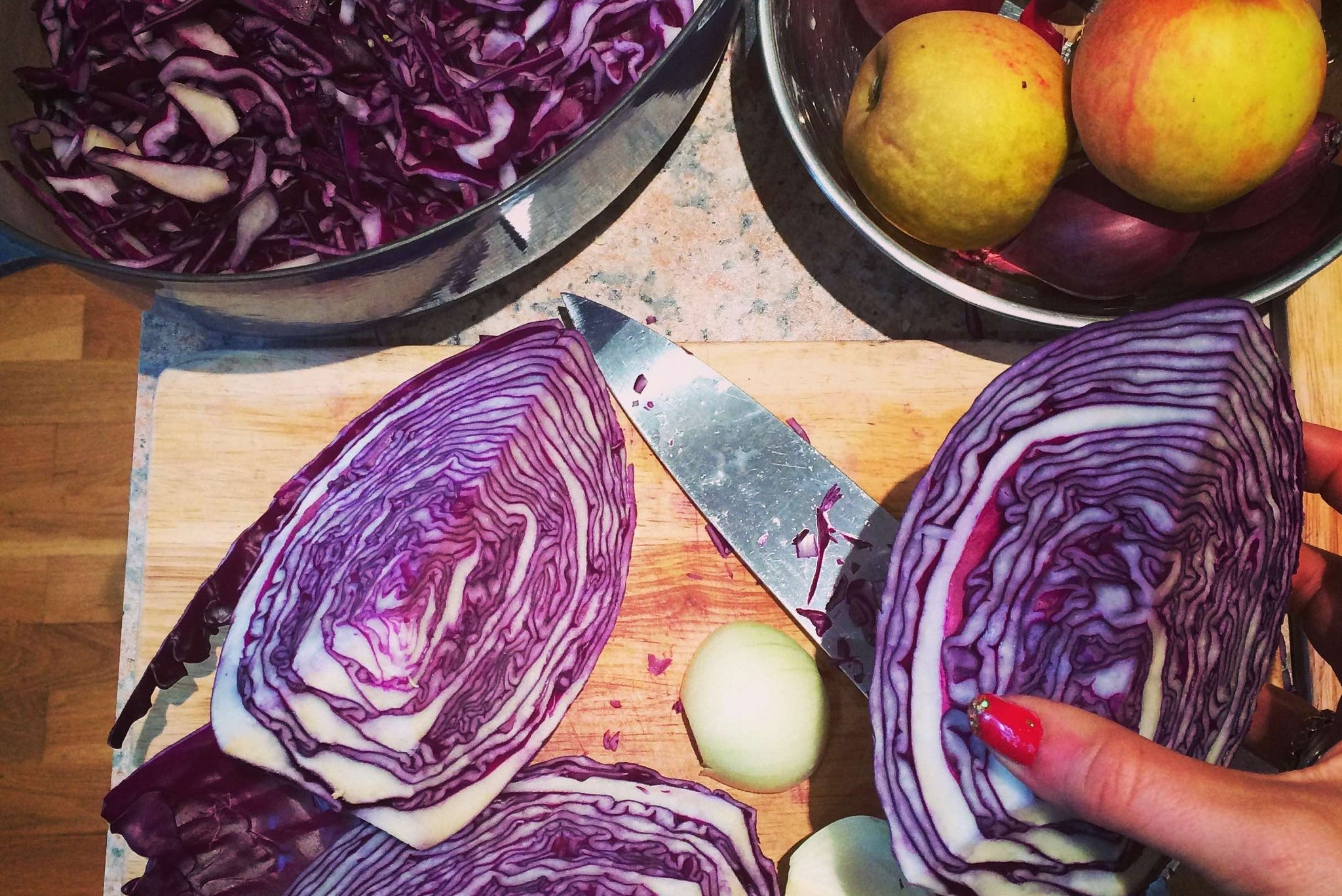 Spiced braised Red Cabbage