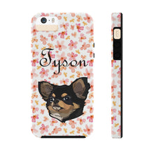 Load image into Gallery viewer, Custom Watercolor Floral Pet Art Phone Case