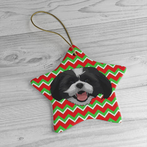 Retro Christmas Ceramic Ornament