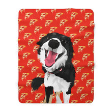 Load image into Gallery viewer, Mr. Cheesy | Custom Pet Art Sherpa Blanket