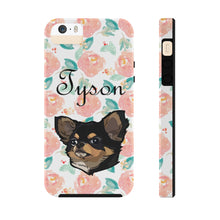 Load image into Gallery viewer, Custom Watercolor Pink Floral Pet Art Phone Case