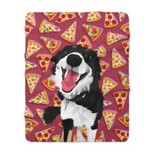 Load image into Gallery viewer, Mr. I Eat Everything | Custom Pet Art Sherpa Blanket