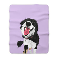 Load image into Gallery viewer, Pastel Purple | Custom Pet Art Sherpa Blanket