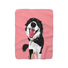 Load image into Gallery viewer, Pastel Red | Custom Pet Art Sherpa Blanket