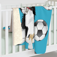 Load image into Gallery viewer, Soccer Pattern | Custom Pet Art Sherpa Blanket