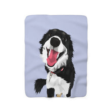 Load image into Gallery viewer, Pastel Blue | Custom Pet Art Sherpa Blanket