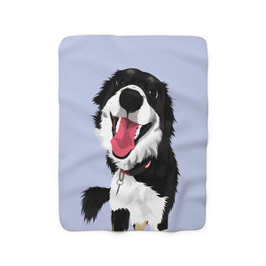 Pastel Blue | Custom Pet Art Sherpa Blanket