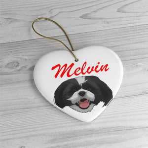 Ceramic Ornament with Custom Name Tag