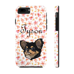 Custom Watercolor Floral Pet Art Phone Case