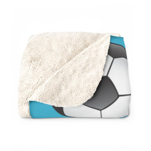 Soccer Pattern | Custom Pet Art Sherpa Blanket