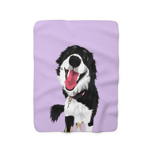 Pastel Purple | Custom Pet Art Sherpa Blanket