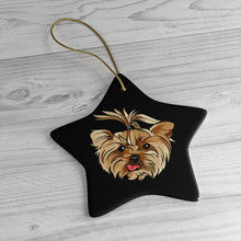 Load image into Gallery viewer, Black Ceramic Ornaments