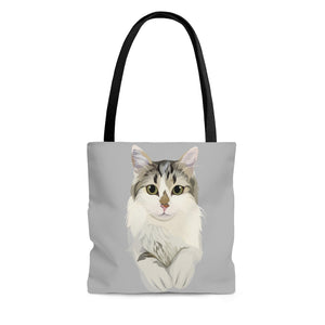Grey Tote Bag | Custom Design Featuring your Fur Baby