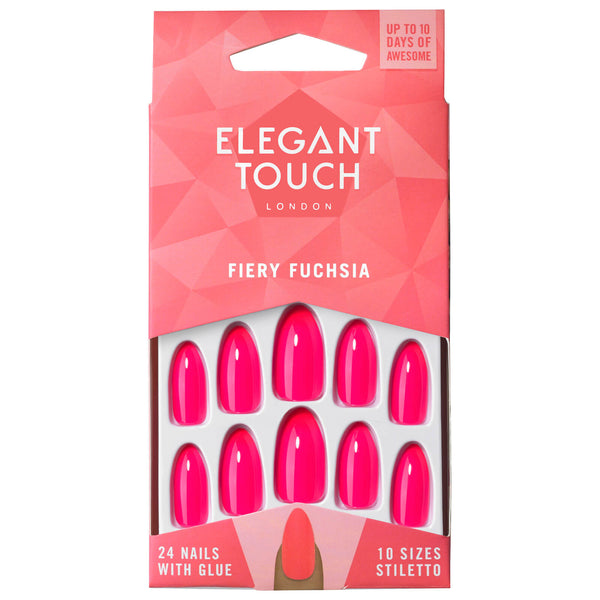 Ongles Colorés Fiery Fuchsia - Elegant Touch
