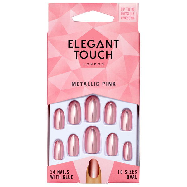 Ongles Colorés  Metallic Pink - Elegant Touch