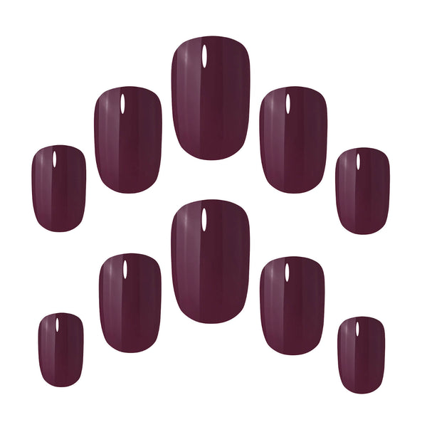 Perfect Plum Nails - Elegant Touch