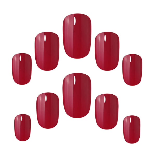 Rich Red Nails - Elegant Touch