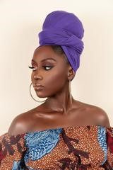 Purple Headwrap - Grass Fields