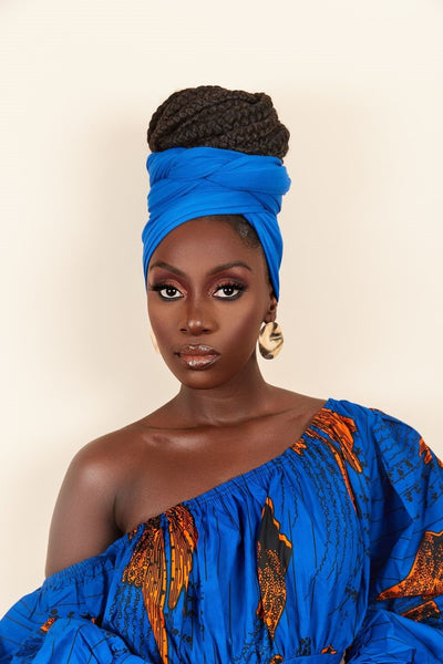 Royal Blue Headwrap - Grass Fields