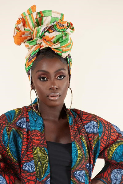 Shanisse Headwrap - Grass Fields
